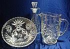 Anchor Hocking Star of David Pattern Glassware