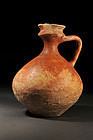 Ancient Greek highly painted wine pitcher, 300 BC