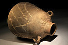 Ancient Biblical Roman decorated wine storage amphora
