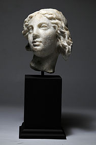 Ancient Roman marble head of Aphrodite, 1st-2nd Cent.