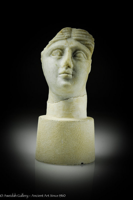 Ancient Roman marble head of a woman 100 – 300 AD