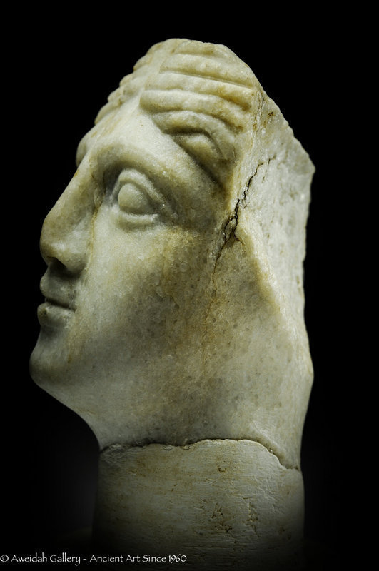 Ancient Roman marble head of a woman 100 � 300 AD