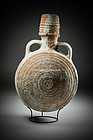 Huge Byzantine reddish pottery wine flask, 600 AD