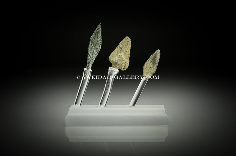 Ancient bronze arrowheads set, 1000 BC - 100 AD