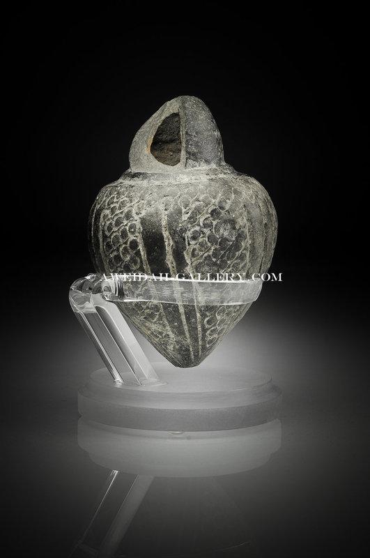 Byzantine decorated pottery hand-granade,8th Century AD