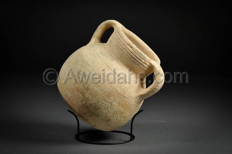 Ancient Biblical Iron Age pottery wine set, 1000 BC
