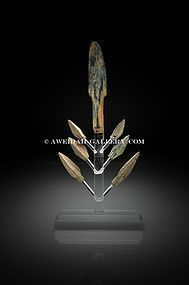 Ancient bronze arrow-heads set, 1750 BC - 200 AD