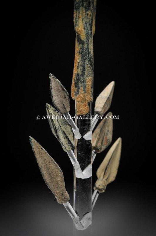 Ancient bronze arrow-heads set, 1750 BC - 200 AD