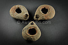 Three ancient Roman terracotta oil lamps, 1st AD