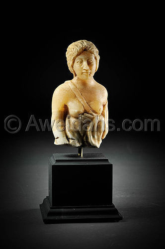 Roman alabaster figure of a standing female, 300 AD