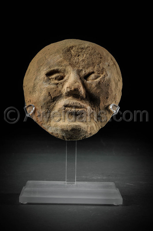 Roman pottery mask, 100 - 300 AD