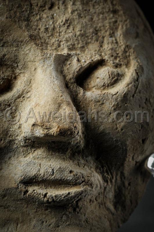 Roman pottery mask, 100 - 300 AD