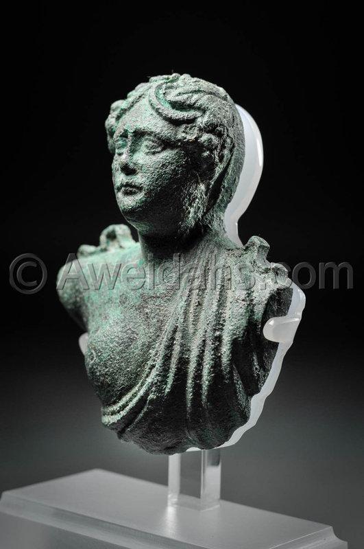 Roman bronze bust of Dionysus, 2nd Century A.D