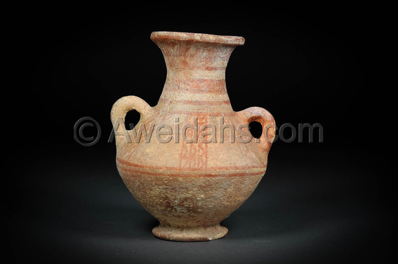 Canaanite biblical Late Bronze Age pottery wine amphora, 1550 BC
