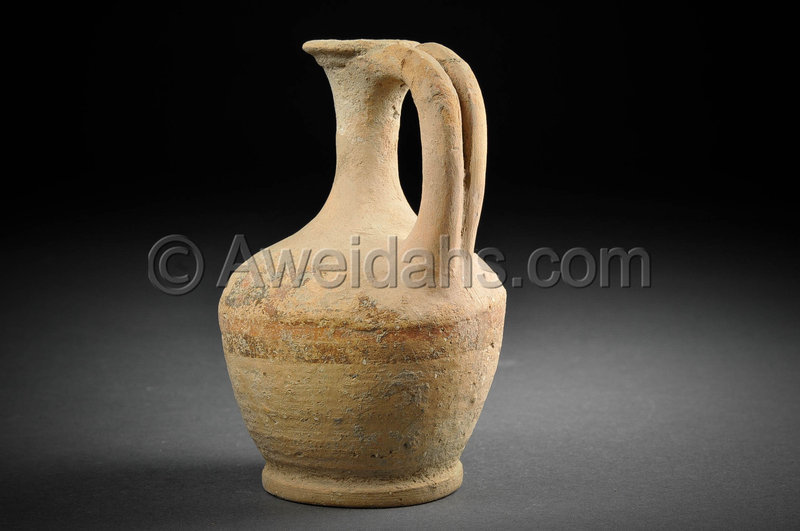 Biblical Middle Bronze Age pottery perfume jar, 1850 - 1550 BC
