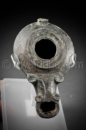 From Jerusalem Roman bronze oil lamp, 100  200 AD