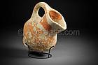 Biblical Iron Age pottery wine pitcher, 1000 BC