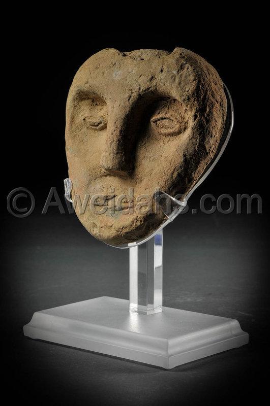 Roman terracotta mask, 1st - 3rd Cent. A.D.