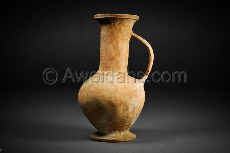 Cypriot - Late Bronze Age pottery wine jug, 1550 - 1200 BC