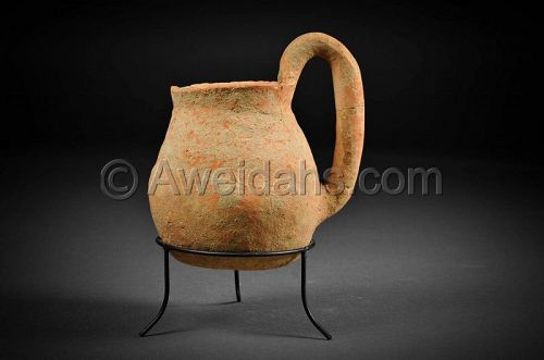 Holy Land, Chalcholithic Age pottery jar, 4000 - 3100 BC