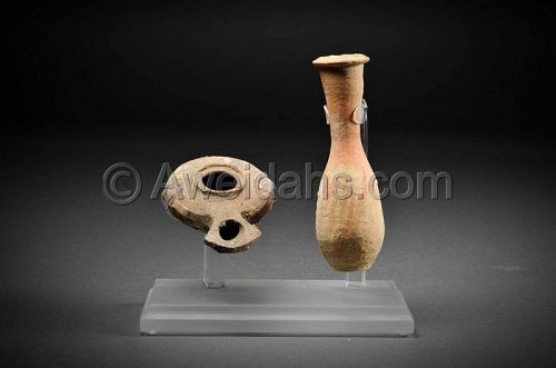 Roman Herodian set �Oil Lamp and oil filler� 1st Cent AD