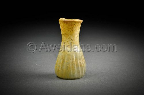 Roman glass perfume flask, 100 - 300 AD