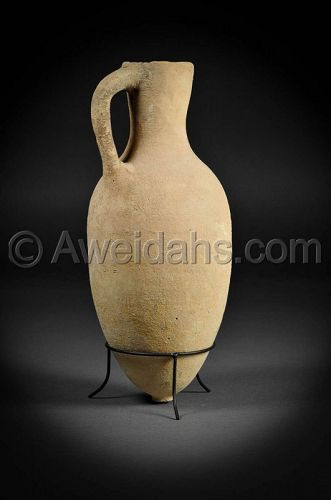 Canaanite Middle Bronze Age pottery wine pitcher, 1850 B.C.