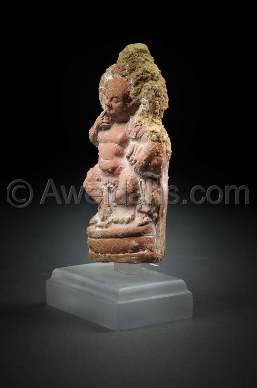 Hollow terracotta figure of harpocrates, 100 BC/AD