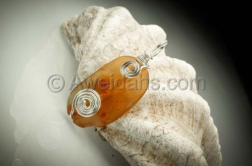 ANCIENT ROMAN CARNELIAN BEAD PENDANT, 100 � 300 AD