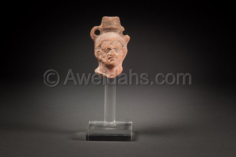 Ancient Greco- Roman terracotta head, 100 BC/AD