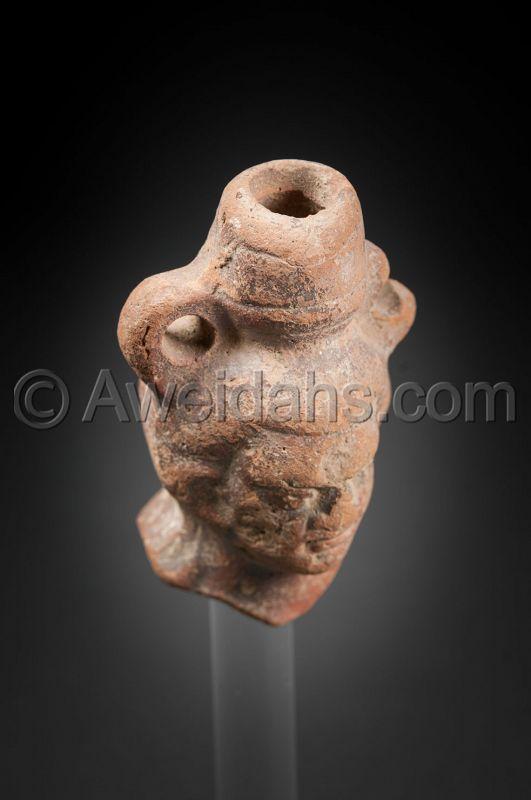 Ancient Greco- Roman terracotta head, 100 BC/AD