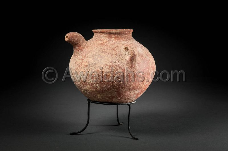ANCIENT BIBLICAL EARLY BRONZE AGE SPOUTED VESSEL, 3000 BC