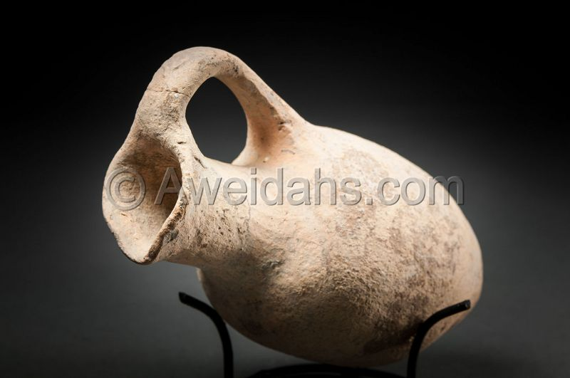 ANCIENT BIBLICAL LATE BRONZE AGE WINE JUGLET, 1550 BC