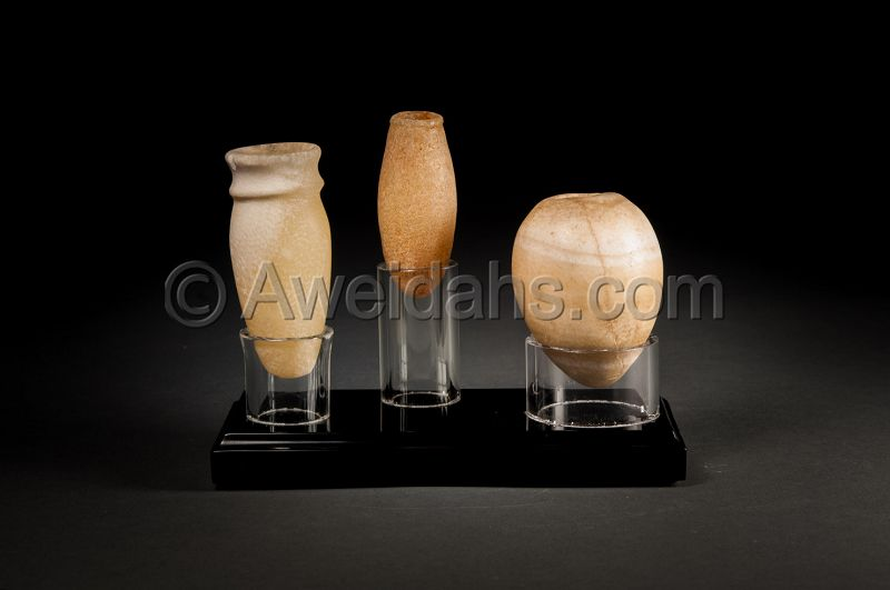 Ancient Egyptian cosmetic alabaster set, 2000 BC