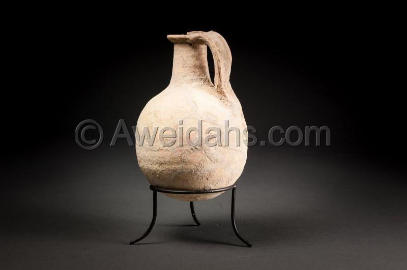Ancient biblical Roman Herodian juglet, 37 BC - 70 AD