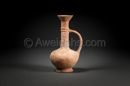"Ancient Cypriot pottery juglet ""BilBil"" 1550 BC"