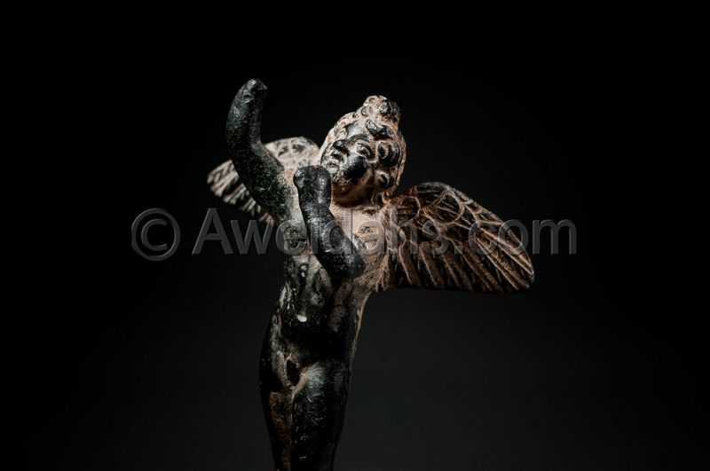 ANCIENT ROMAN BRONZE FIGURE OF EROS, 1ST AD