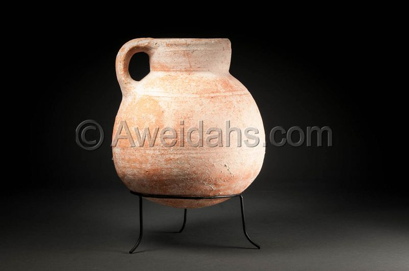 ANCIENT BIBLICAL IRON AGE POTTERY VESSEL, 1000 BC