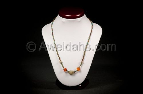 Ancient Egyptian and Roman beads necklace, 1550 BC - 100 AD