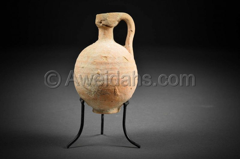 Ancient Roman Herodian pottery perfume jar, 37 BC - 70 AD