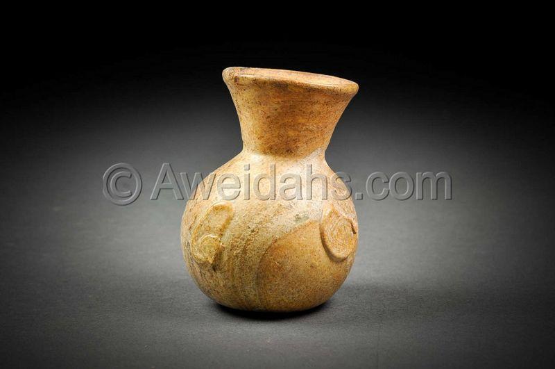 Ancient Roman glass perfume flask, 100 � 300 AD
