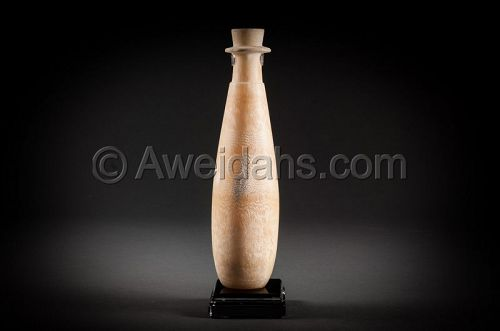 Ancient Egyptian alabaster vase, 1000 BC