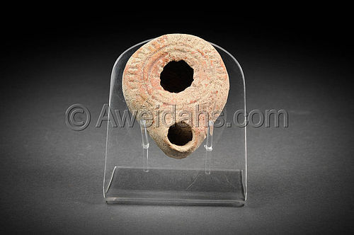 Roman imperial pottery oil lamp, 1st - 2nd Cent. AD