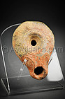 Roman Nabatean pottery oil lamp, 50 BC - 150 AD