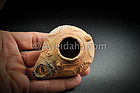 Roman decorated pottery oil lamp, 300 AD