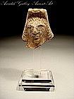 Biblical Roman Beit Natif Clay Head Of Astarte, 400 AD