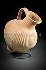 Ancient Biblical Roman Herodian Decorated Pottery Jar