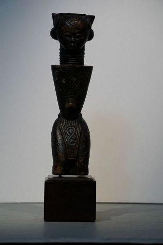 Powerful African D'Ngese Kneeling Figure