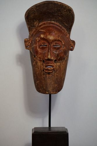 African LuLa Mask from the Democratic Republic of Congo