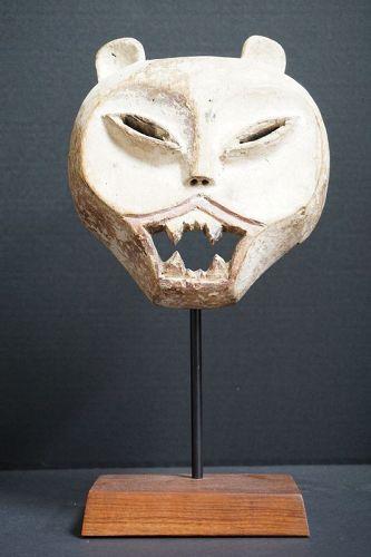 African Luba Kifwebe Feline Zomorphic Mask